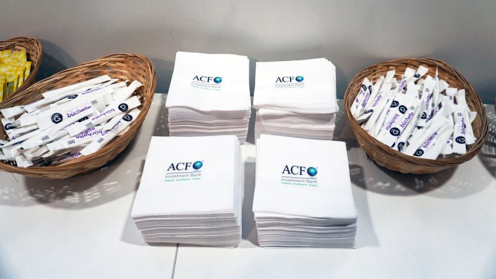 Even the Napkins are ACF branded!