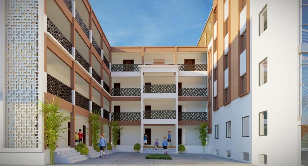 3D Visualisation of new school in Pakistan